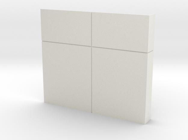 Custom Wall #5 in White Natural Versatile Plastic