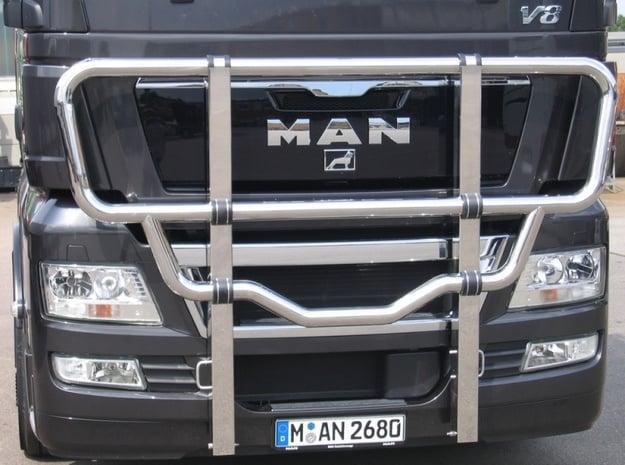 Scania Bull Bar - Type A in White Natural Versatile Plastic