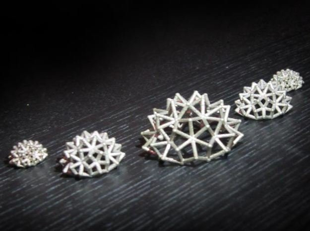 Tessa Half WireBalls 3 sizes - 4cm in Polished Bronzed Silver Steel