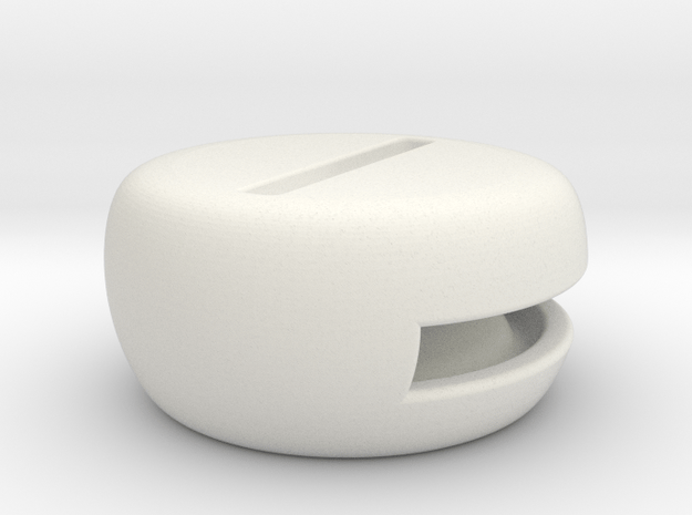 Speaker-1 in White Natural Versatile Plastic