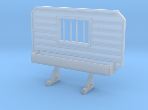 1/87 HO headache rack window with tray in Smooth Fine Detail Plastic