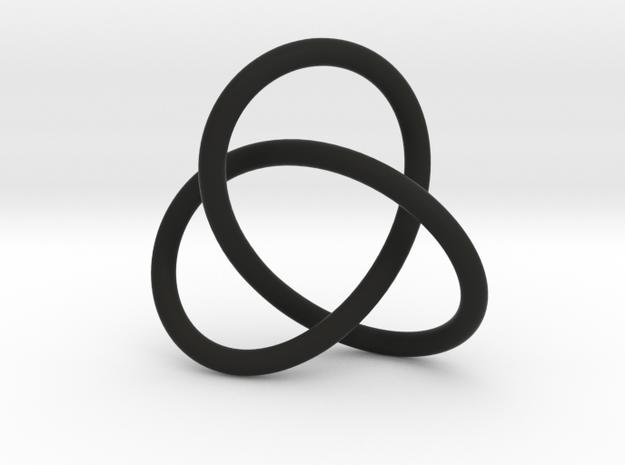 Escher Knot Pendant in Black Natural Versatile Plastic
