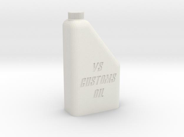1/10 1L Oil Bottle in White Natural Versatile Plastic