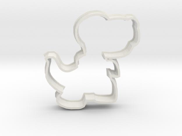 Cookie T-rex in White Natural Versatile Plastic