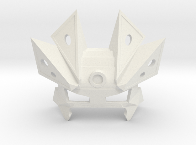 Vahi, Mask of Time (Upper-Half) in White Natural Versatile Plastic