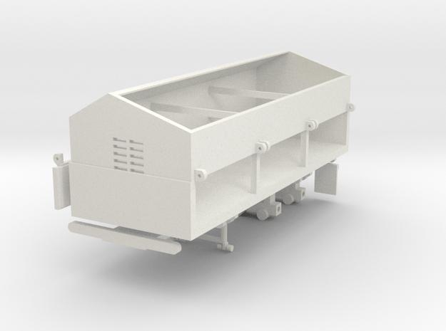 1/64 Side Dump Trailer in White Natural Versatile Plastic