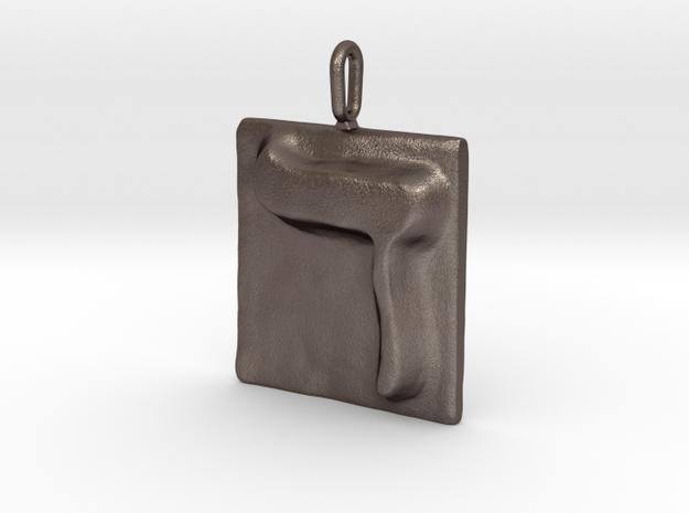 04 Dalet Pendant in Polished Bronzed Silver Steel