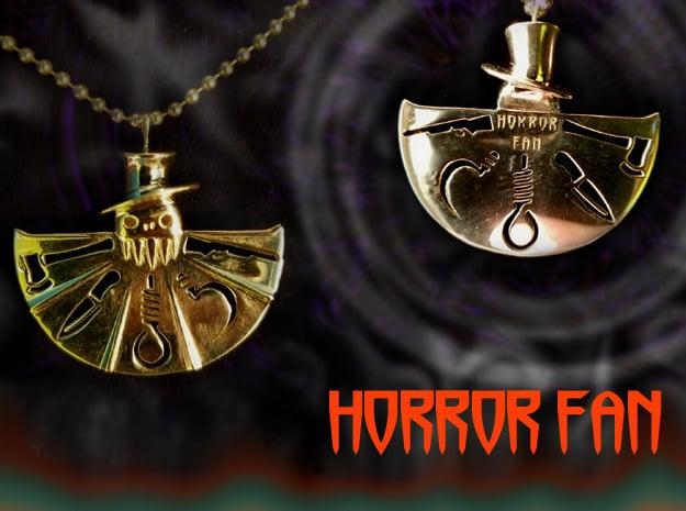 Horror Fan in Polished Silver