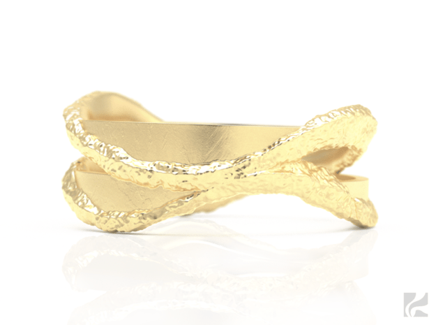 Full Dual Stone Ring in 14k Gold Plated Brass: 6.5 / 52.75