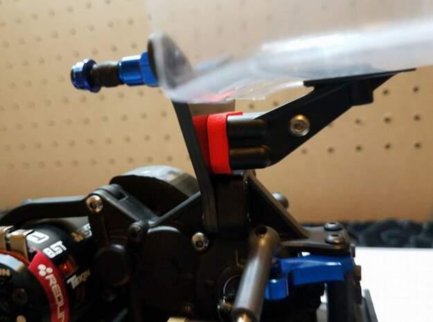 B6 Wing Spacer 4mm in Black Natural Versatile Plastic