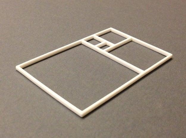 The Golden Rectangle in White Natural Versatile Plastic