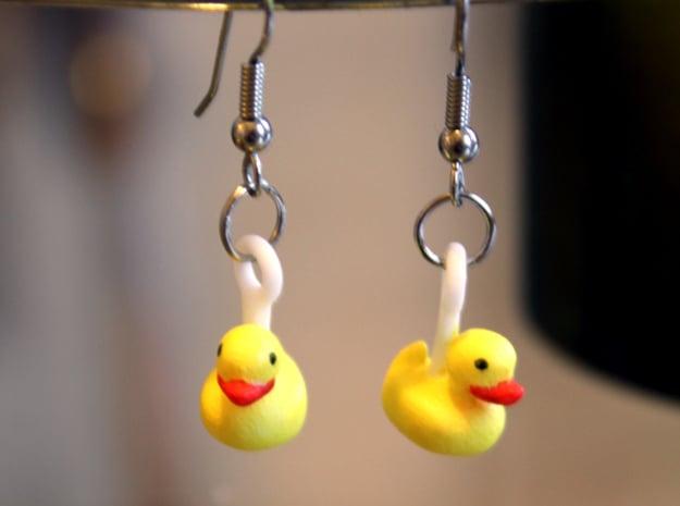 Rubber Ducks in White Natural Versatile Plastic