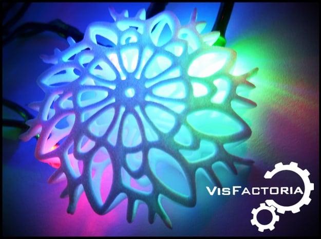 Rosetta Christmas Snowflake in White Natural Versatile Plastic