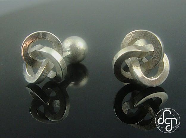Trefoil Cufflinks in Polished Silver