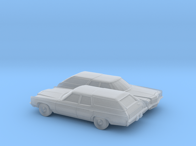 1-160 2X 1971 Chevrolet Kingswood Station Wagon in Smooth Fine Detail Plastic