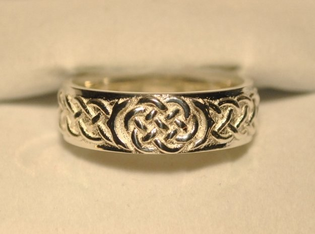 Celtic Wedding Knot Ring in Polished Silver: 12.5 / 67.75