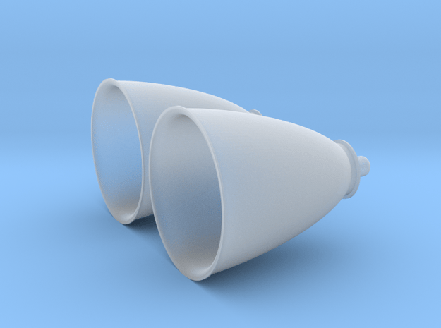 1/72 Space Shuttle OMS Engines (2) in Smoothest Fine Detail Plastic