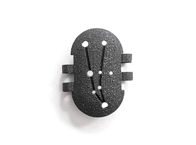 KPS Outer Piece - Andromeda in Matte Black Steel
