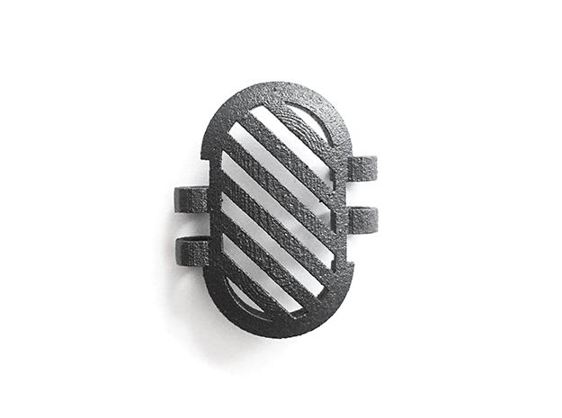KPS Outer Piece - Stripes in Matte Black Steel