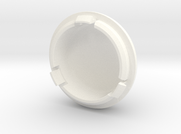 Lancia Delta Stossdämpfer Abdeckung Shock absorber in White Processed Versatile Plastic