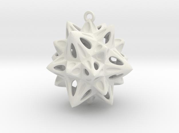 Christmas Tree Decoration in White Natural Versatile Plastic