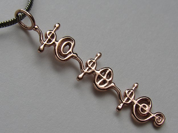 """""""Ashayam"""" Stardust Pendant in 14k Rose Gold Plated Brass"""
