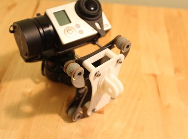 Feiyu Tech G3 (FY G3) Gimbal - GoPro Mount in White Natural Versatile Plastic