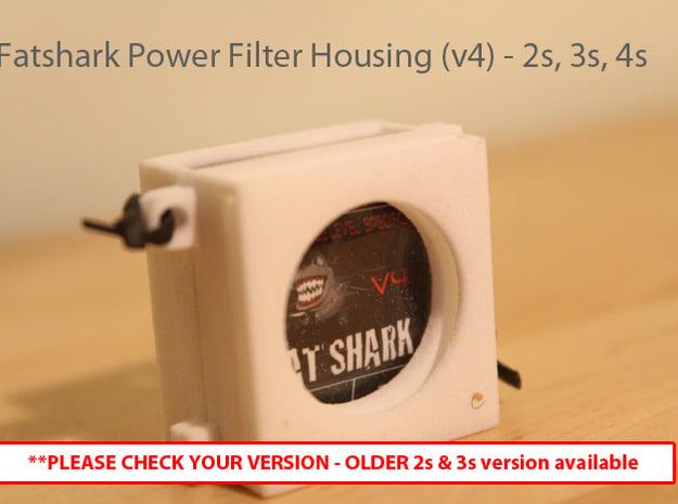 Fatshark Predator V2 Power Filter v4 housing (2s,3 in White Natural Versatile Plastic