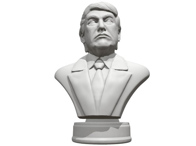 Donald Trump Presidental edition in White Natural Versatile Plastic