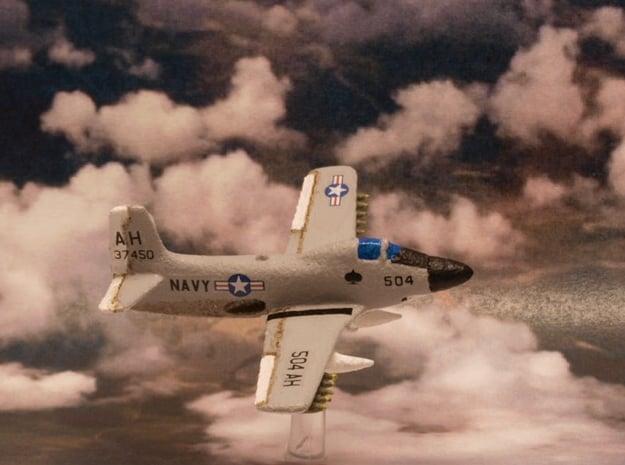 Douglas A2D Skyshark (Pair in flight) 6mm 1/285 in White Natural Versatile Plastic