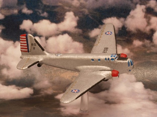 Douglas B-18 Bolo Original 6mm 1/285 (In flight) in White Natural Versatile Plastic