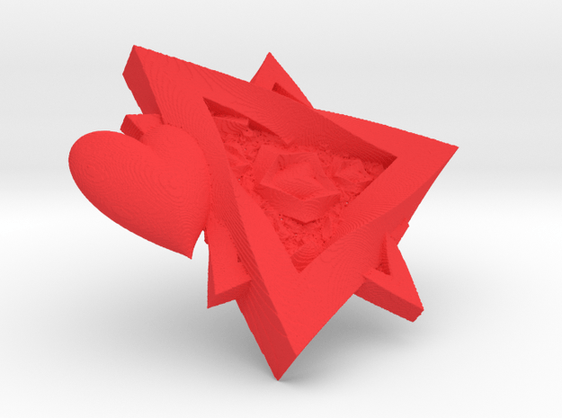 Hearts & Stars in Red Processed Versatile Plastic