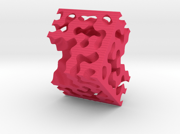 Fractals Of The Labyrint in Pink Processed Versatile Plastic