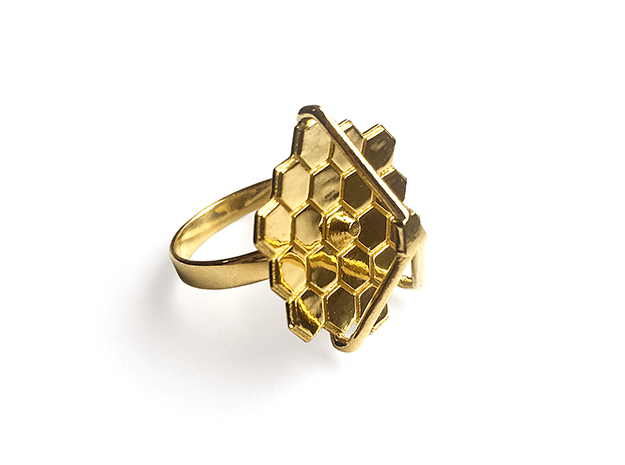 James Webb Ring in Polished Brass: 7 / 54