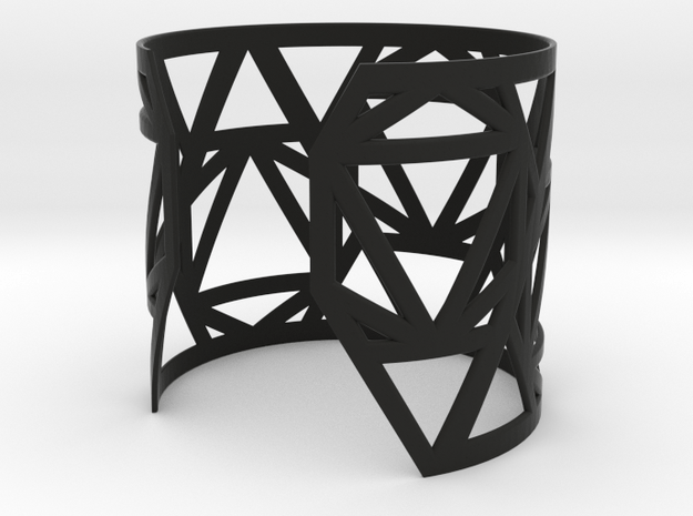Zero Point Wrist Cuff in Black Natural Versatile Plastic
