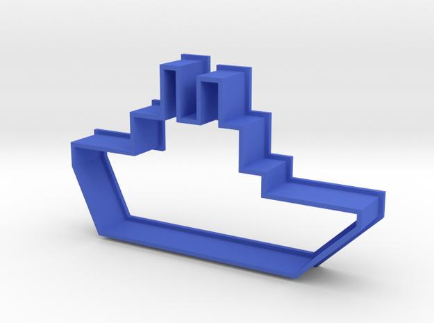 Cookie Cutter Boat in Blue Processed Versatile Plastic