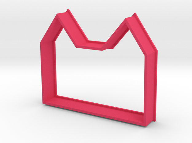 Cookie Cutter Mansion in Pink Processed Versatile Plastic