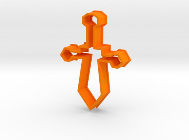 Cookie Cutter Sword in Orange Processed Versatile Plastic