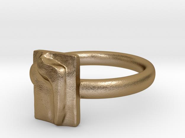 06 Vav Ring in Polished Gold Steel: 7 / 54