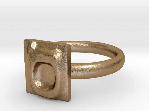 15 Samekh Ring in Polished Gold Steel: 7 / 54