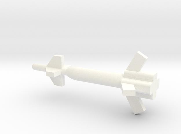 1/72 Scale GBU-27 Bomb in White Processed Versatile Plastic