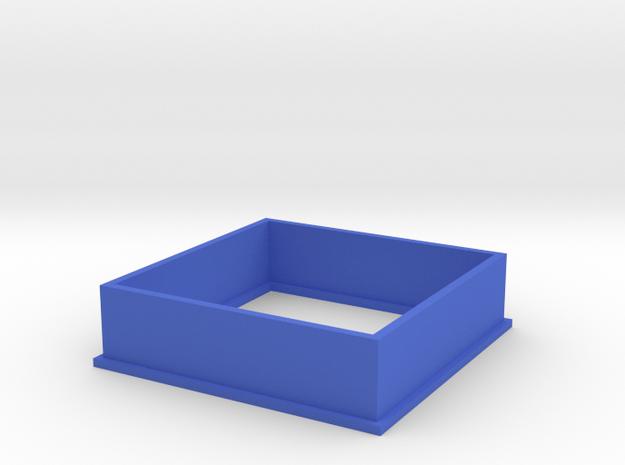 Cookie Cutter Square in Blue Processed Versatile Plastic