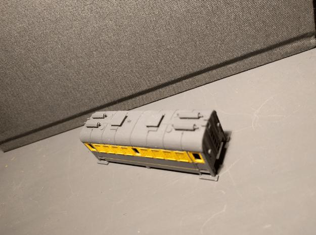 Energiewagen met tanks schaal N met rechte uitlaat in Smooth Fine Detail Plastic