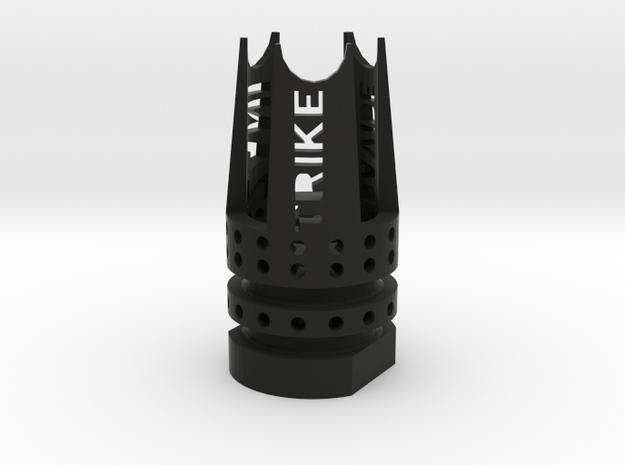 Trike Airsoft Flash-Hider (14mm-) in Black Natural Versatile Plastic