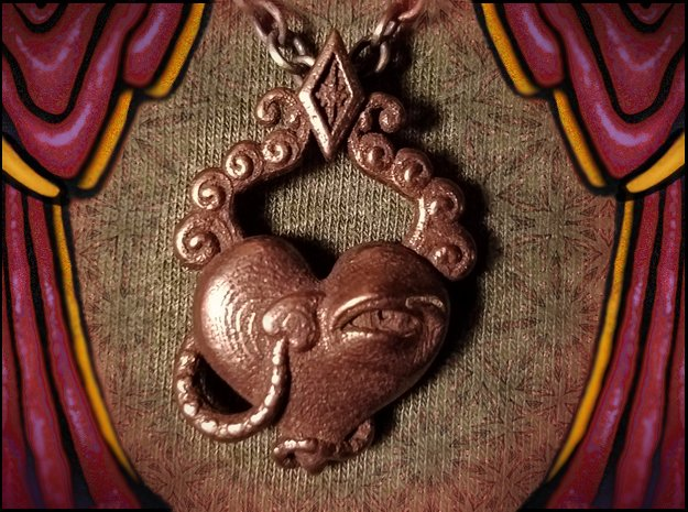 Love's Eye Opener in Polished Bronze Steel