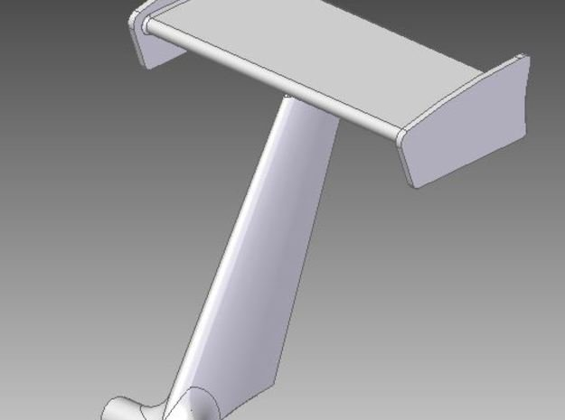 Wing With Tube Mount in Smooth Fine Detail Plastic