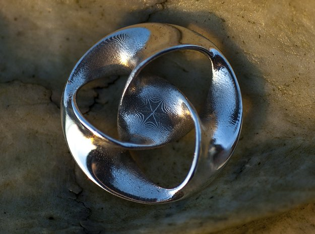All is one Pendant  in Polished Silver