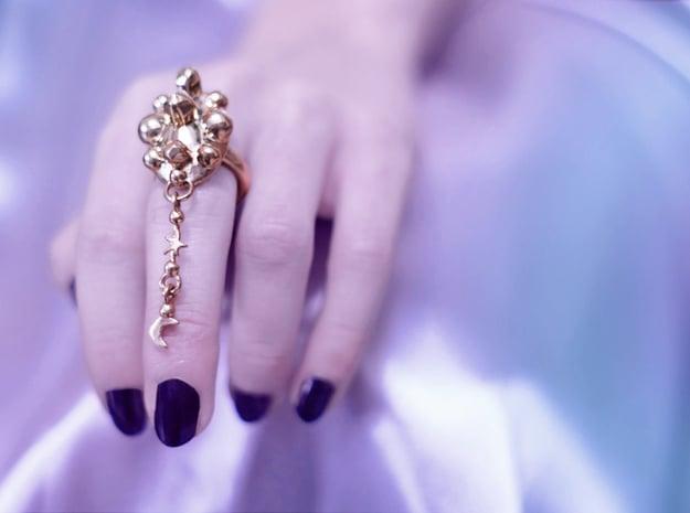 KETHER RING in Natural Brass (Interlocking Parts): 7 / 54