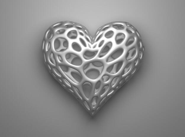 Organic Heart in Red Processed Versatile Plastic