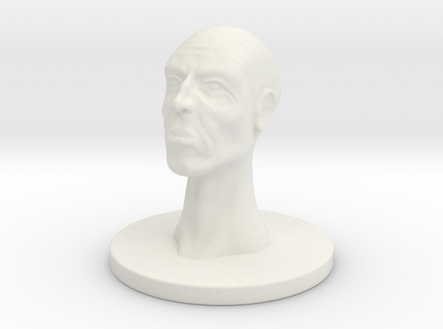 1 Inch Wise Man in White Natural Versatile Plastic